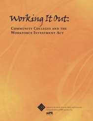 Working It Out: Community Colleges and the Workforce Investment Act