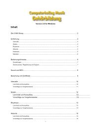 CKM Handbuch (PDF 460 KB) - Schott Music