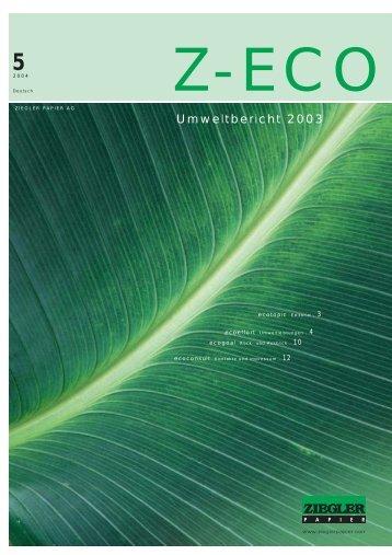 Umweltbericht 2003 - Ziegler Papier AG