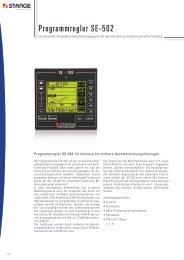 Programmregler SE-502 - Stange Elektronik GmbH
