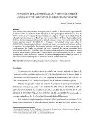 AS POLÍTICAS DO BANCO MUNDIAL PARA A EDUCAÇÃO ...
