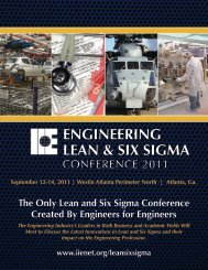 engineering Lean and Six Sigma - Institute of Industrial Engineers
