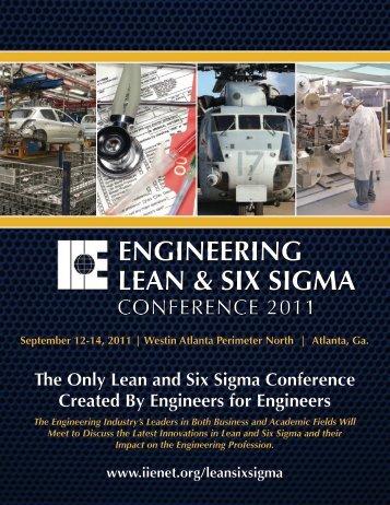 engineering Lean and Six Sigma - Institute of Industrial Engineers