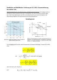 Chemie-Diplom Grundoperationen Destillation 2. Teil Vorlesung ...