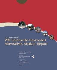 Alternatives Analysis Report Executive Summary - Virginia Railway ...