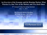 An Overview of the Economy and the Housing Market ... - Tilson Funds