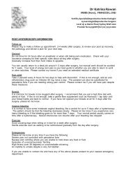 Post Hysteroscopy Information PDF - Dr Katrina Rowan