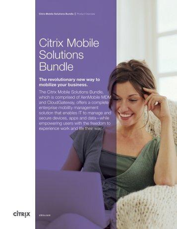 Citrix Mobile Solutions Bundle
