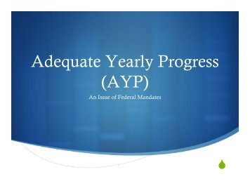 Adequate Yearly Progress (AYP) - Hawthorn School District 73