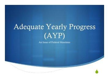 Adequate Yearly Progress (AYP) - Hawthorn School District 73