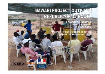 Djibouti project - Outputs - MaWaRi.net