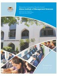 Allana Brochure 19072011 - Allana Institute of Management Sciences