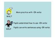 WALT WILF More practice with -ER verbs Pupils understand how to ...