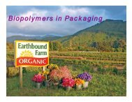 Biopolymers in Packaging - Sustainable Food Trade Association