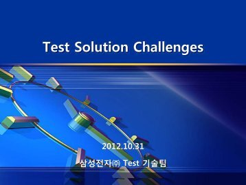 Challenges for Future Test