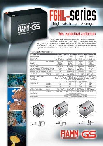 Valve regulated lead-acid batteries - Fibat