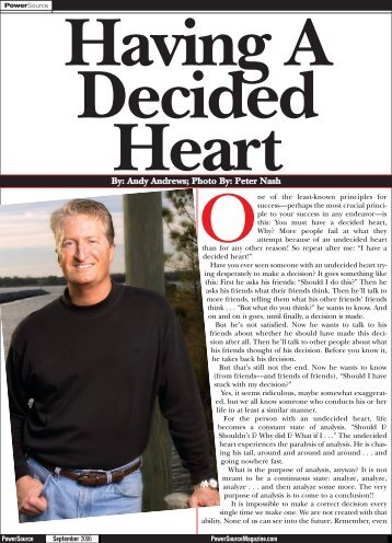 Having a Decided Heart - Andy Andrews