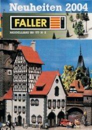 Novedades Faller 2004 - Railwaymania.com