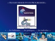 Coût - Fédération Française de Natation