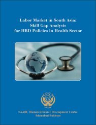 Labor Market in South Asia - SAARC Human Resource ...