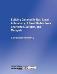 Building Community Resilience: A Summary of Case Studies from ...