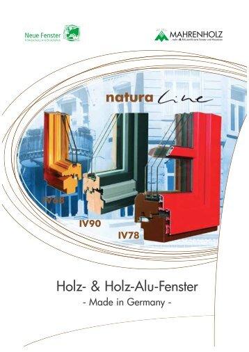 Holz- & Holz-Alu-Fenster natura - Mahrenholz
