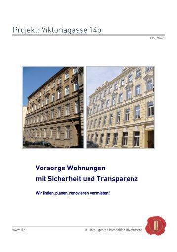 Projekt: Viktoriagasse 14b - III - Intelligentes Immobilien Investment