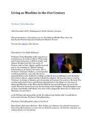 PDF Transcription Tariq Ramadan - Radical Middle Way
