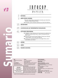 INFOCOP - Consejo General de Colegios Oficiales de Psicólogos