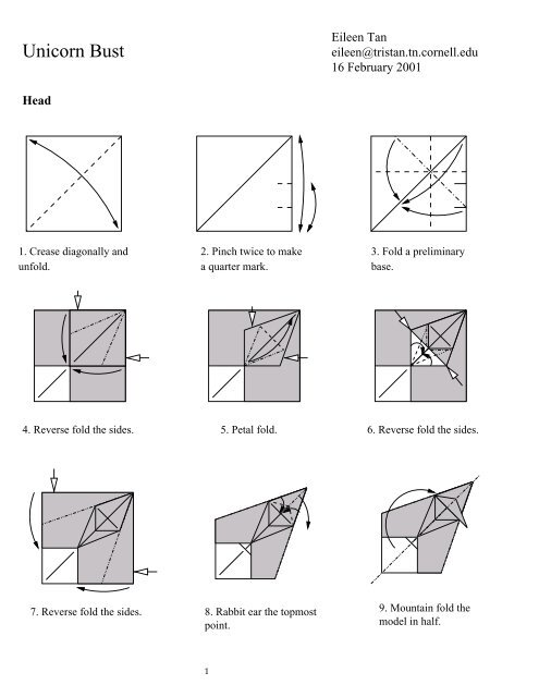 origami instructions art and craft ideas: make origami petal fold ... | 640x495