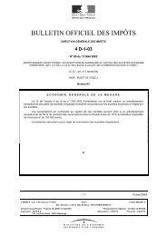 BULLETIN OFFICIEL DES IMPÔTS - www11