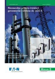 Niezawodna ochrona instalacji, generatorów i silników do ... - Moeller