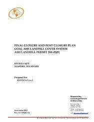 final closure and post closure plan coal ash landfill cover system ash ...