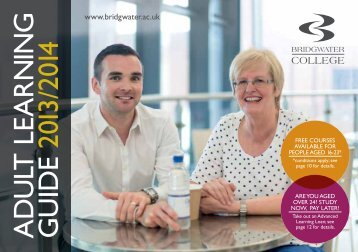Adult Learning Guide - Bridgwater College