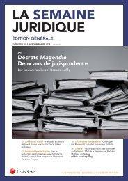 La Semaine Juridique (Édition générale) - LexisNexis
