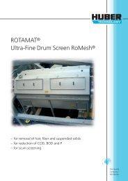 HUBER ROTAMAT® Ultra-Fine Drum Screen RoMesh® - brochure ...