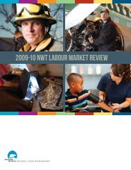 2009-10 NWT Labour Market Review - Education, Culture and ...