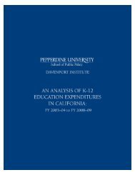 Analysis of K-12 Education Expenditures in California - Pepperdine ...