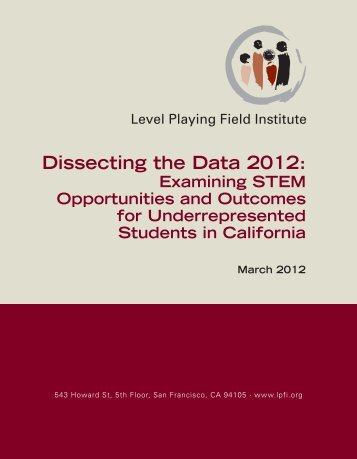 Dissecting the Data 2012 - Thoughts on Public Education
