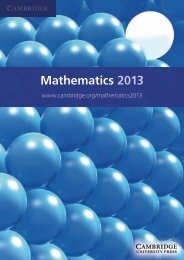 Mathematics 2013 - Cambridge University Press India