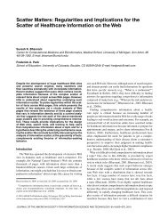 Scatter matters: Regularities and implications for the ... - ResearchGate