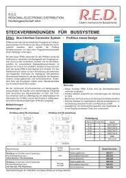 steckverbindungen für bussysteme - RED - Elektromechanische ...