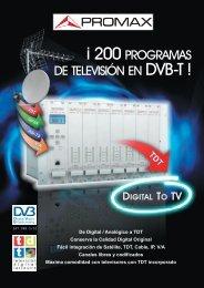 Digital To TV: Â¡200 programas de television en DVB-T! - GELEC (HK)