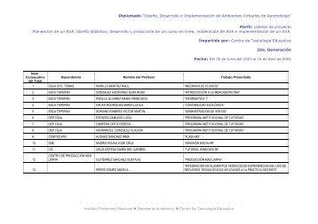 Diplomado - Centro de Investigación en Biotecnología Aplicada ...