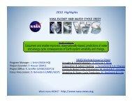2010 Highlights - NEWS (The NASA Energy and Water cycle Study)