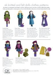ak knitted and felt dolls clothes patterns - AK Traditions