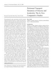 Peritoneal Transport Dynamics of Glucose and Icodextrin: The In ...