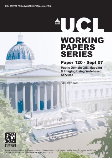WORKING PAPERS SERIES - The Bartlett - UCL
