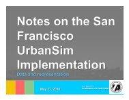 Data and representation - UrbanSim