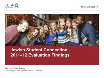 Jewish Student Connection - Jim Joseph Foundation